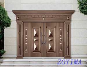 Z0YIMA/ G & K Great Door - Competitive Price Steel Exterior 4 panels Door ZYM-T 7012