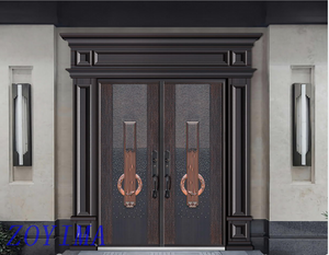 Z0YIMA/ G & K Great Door - Cast Imitation Copper Security Doors ZYM-K8073