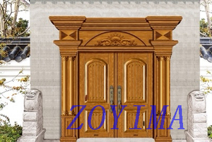 Z0YIMA/ G & K Great Door - Metal Seucrity Door Yellow Copper Color ZYM-M2030