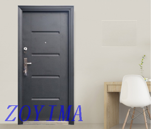 Z0YIMA/ G & K Great Door-Security Steel Door FD-E103 Simple Black Painting Color