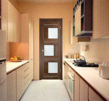 The kitchen door is beautifully decorated and practical