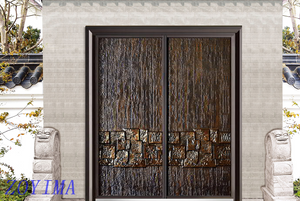 Z0YIMA/ G & K Great Door - Good Cast Aluminum And Glavanized Security Door Supplier ZYM-P1-6016