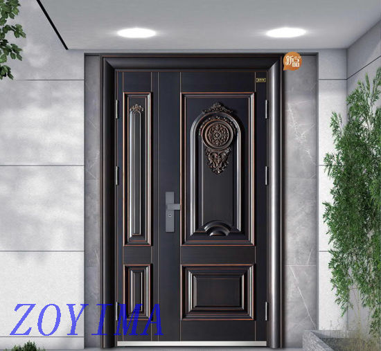 Z0YIMA/ G & K Great Door-Security Steel Front Safety Son And Mother Doors GP01