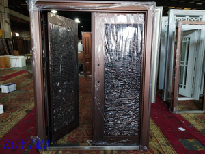 Z0YIMA/ G & K Great Door -Competitive Glavanized Exterior Safe Glass Door ZYM-K105